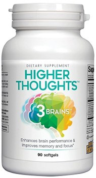 Natural Factors 3 Brain Higher Thought, 90 tablets