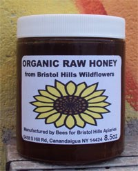 Bristol Hills Apiariers Organic Raw Honey 8 oz