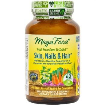 MegaFood Skin, Nails & Hair, 60 tablets
