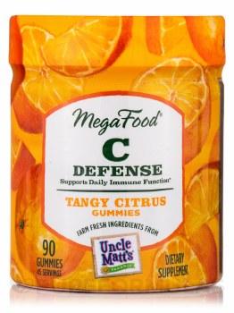 MegaFood Tangy Citrus C Defense Gummies, 90 gummies