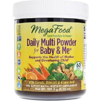 Mega Food Daily Multi Powder for Baby & Me, 5.33 oz.