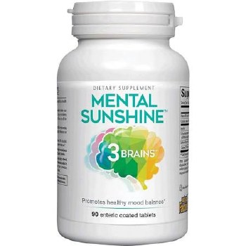 Natural Factors 3 Brain Mental Sunshine, 90 tablets