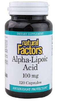 Natural Factors Alpha-Lipoic Acid, 100mg, 120 capsules