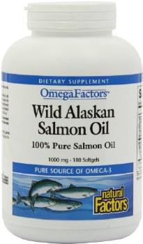 Natural Factors Wild Alaskan Salmon Oil, 180 soft gels