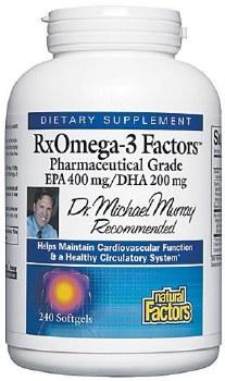 Natural Factors RxOmega-3 Factors, 240 soft gels