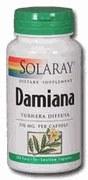 Solaray Damiana Leaves 370mg 100 capsules