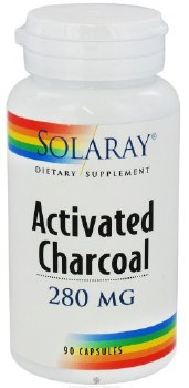 Solaray Activated Charcoal, 280mg, 90 capsules