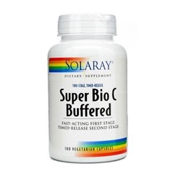 Solaray Bio C Buffered Two Staged, Time Released, 100 vegetarian capsules