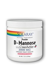 Solaray D-Mannose with CranActin Powder, 2000mg, 7.6 oz.