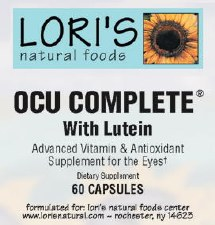 Lori's OCU Complete with Lutein 60 capsules