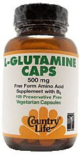 Country Life L-Glutamine Caps 500 milligrams 100 vegetarian capsules