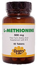 Country Life L-Methionine with B-6 500 milligrams 60 vegetarian tablets