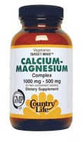 Country Life Calcium-Magnesium Complex 1000 milligrams / 500 milligrams 90 vegetarian tablets