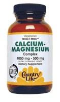 Country Life Calcium-Magnesium Complex 1000 milligrams / 500 milligrams 180 vegetarian tablets