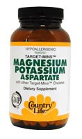 Country Life Magnesium-Potassium Aspartate 180 vegetarian tablets