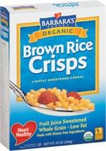 Barbaras's Bakery Brown Rice Crisps Cereal 10 oz