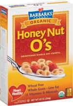 Barbara's Bakery Honey Nut O's Cereal 10 oz