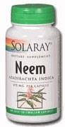 Solaray Neem 475mg 100 capsules