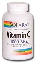 Solaray VItamin C 1000mg 100 capsules