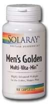 Solaray Men's Golden Multi-Vita-Min 90 capsules