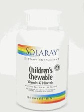 Solaray Childrens Chewable Vitamins and Minerals 120 wafers