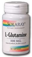 Solaray L-Glutamine 500mg 50 capslues