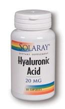 Solaray Hyaluronic Acid 20mg 30 veggy capsules