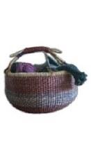 Alaffia Round Handwoven Grass Basket