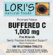 Lori's Buffered C 1000mg 100 vegetarian capsules