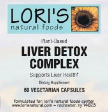 Lori's Liver Detox Complex 60 vegetarian capsules