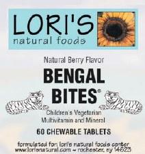Lori's Multi Bengal Bites 60 chewable tablets
