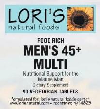 Lori's Mens 45+ Multi 90 vegetarian tablets