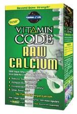 Garden of Life Vitamin Code Raw Calcium, 60 vegie caps