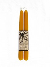 Sunbeam Candles Dipped Taper Beeswax Candles 2 candles