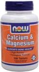 NOW Calcium Magnesium 500/250mg 100 Tabs