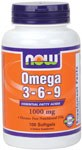 NOW Omega3-6-9 1000mg 100 Soft Gels