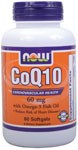 NOW CoQ10 60mg w/Omega3 60 soft-gels