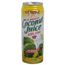 Amy & Brian All Natural Coconut Juice with Lime, 17.5 oz.