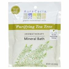 Aura Cacia Purifying Tea Tree Aromatherapy Mineral Bath, 2.5 oz.