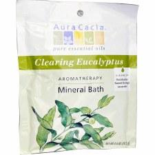 Aura Cacia Clearing Eucalyptus Aromatherapy Mineral Bath, 2.5 oz.