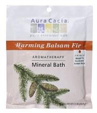 Aura Cacia Warming Balsam Fir Aromatherapy Mineral Bath, 2.5 oz.