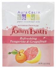 Aura Cacia Refreshing Tangerine & Grapefruit Aromatherapy Foam Bath, 2.5 oz.