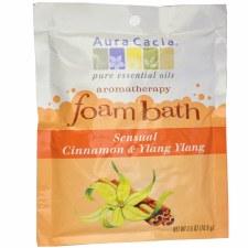 Aura Cacia Sensual Cinnamon & Ylang Ylang Aromatherapy Foam Bath, 2.5 oz.