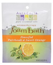 Aura Cacia Peaceful Patchouli & Sweet Orange Aromatherapy Foam Bath, 2.5 oz.