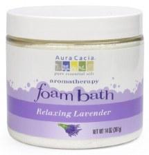 Aura Cacia Relaxing Lavender Aromatherapy Foam Bath, 14 oz.