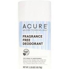 Acure Fragrance Free Deodorant, 2.25 oz.