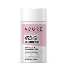 Acure Charcoal Geranium Deodorant, 2.2 oz.