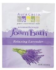 Aura Cacia Relaxing Lavender Aromatherapy Foam Bath, 2.5 oz.