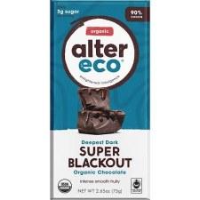 Alter Ego Organic Super Blackout Chocolate Bar, 2.82 oz.