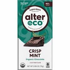Alter Eco Crispy Mint Chocolate, 2.65 oz.